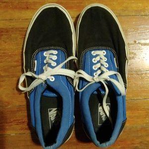 Men's Two Toned Blue Vans Sneakers 11